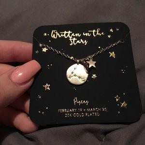 Pisces Zodiac Gold Necklace